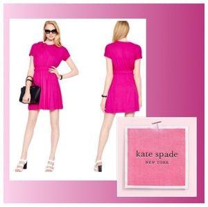 Kate Spade Draped Cotton Jersey Bow Dress